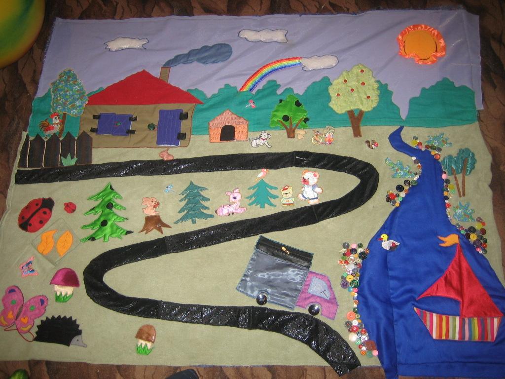 Фото развивающий коврик для детей своими руками