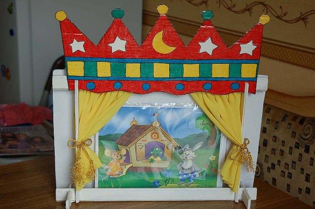Кулисы для кукольного театра своими руками 1