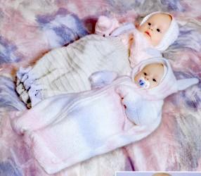 Вязаный конверт для новорожденного - Самодельные.